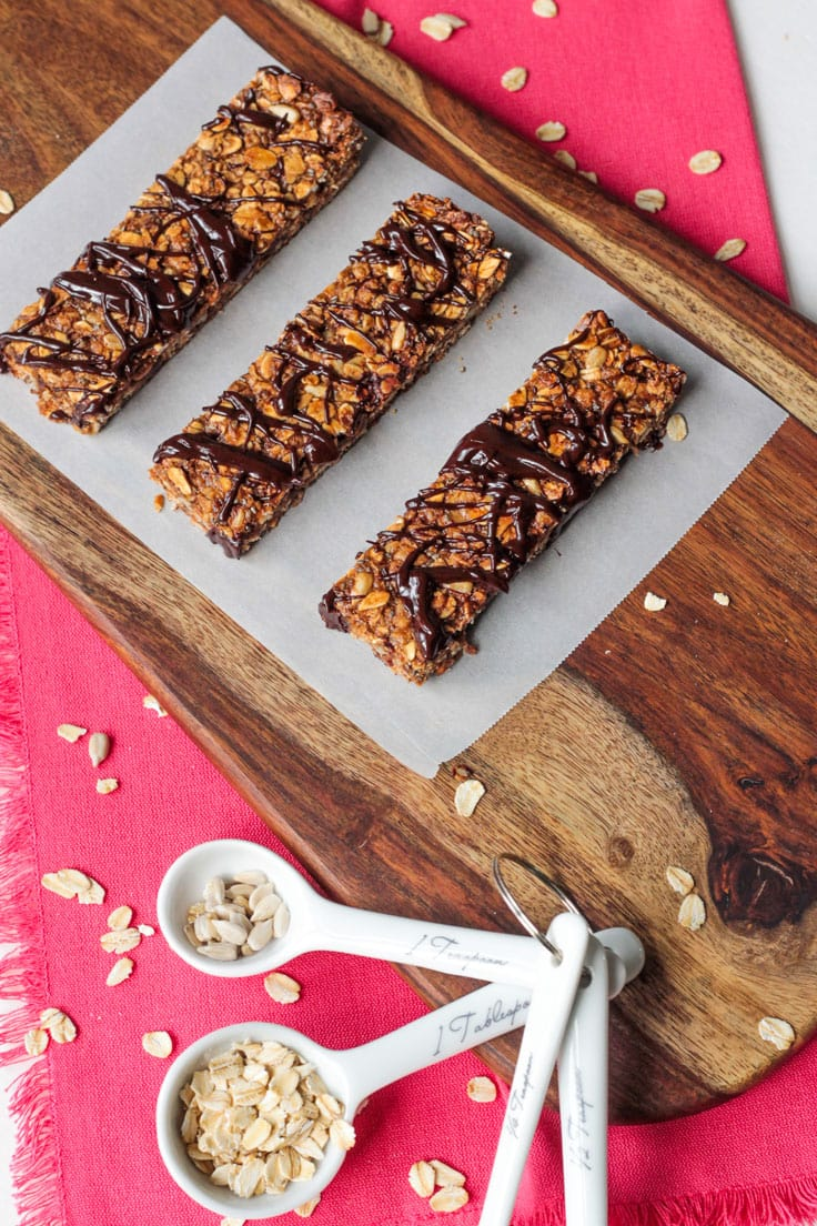 vegan snacks for kids tahini granola bars