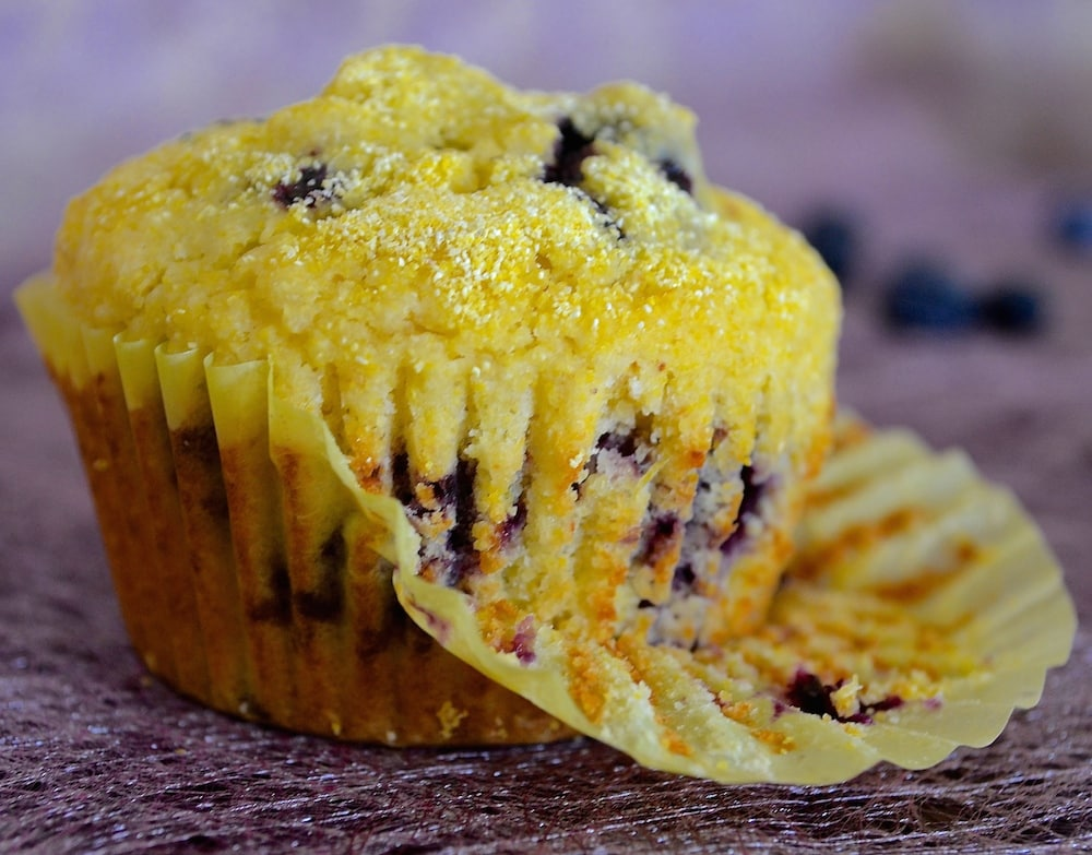 vegan snacks for kids lemon blueberry muffins
